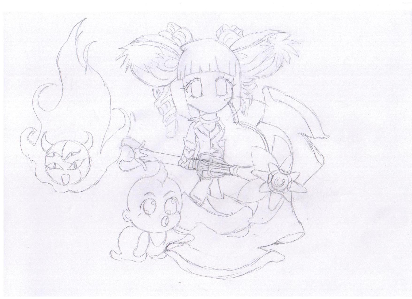 【手绘达人】---兔子水彩笔自画像