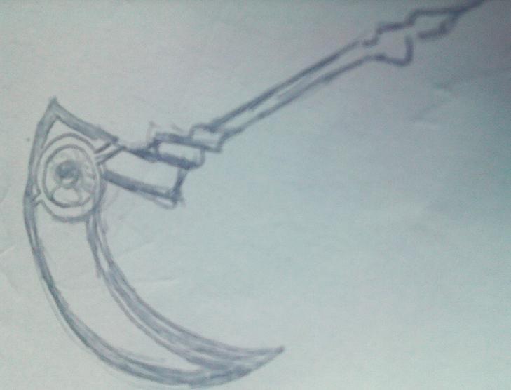 夏泥巴无节操的铅笔画之武器设计