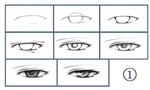 转手绘眼睛的各式画法 1