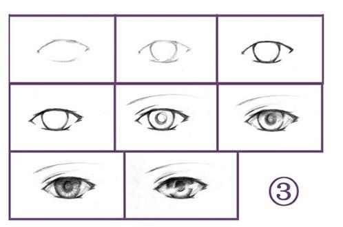 转手绘眼睛的各式画法 1 - 游戏贴图区 - avata工作室