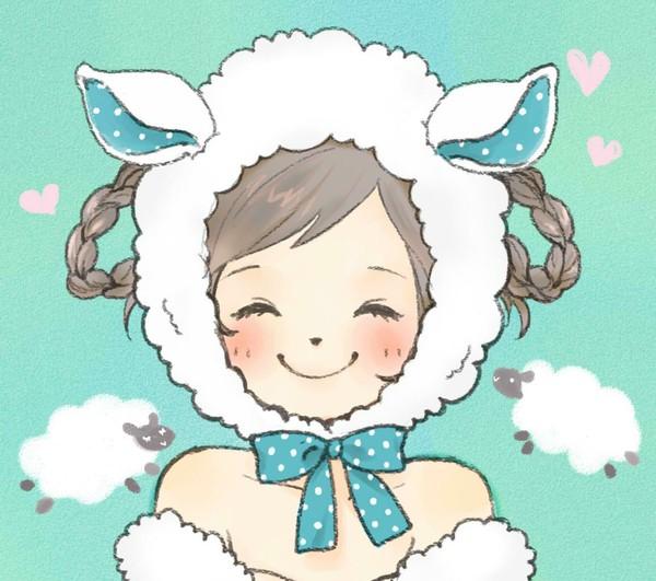 小羊图片可爱头像