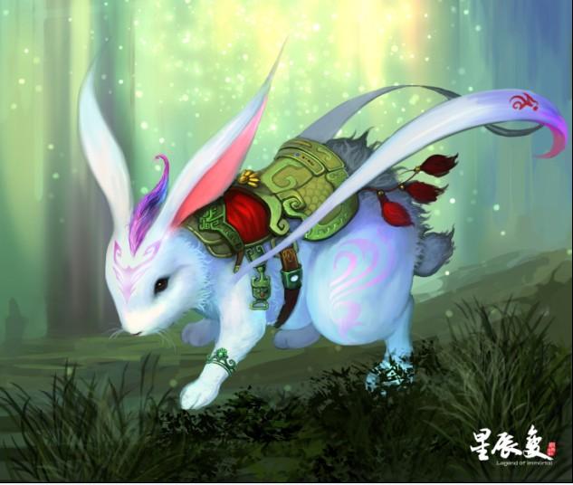 可爱的嫦娥玉兔q版