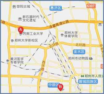 郑州市高新区莲花街50号(河南工业大学大门斜对面)   地图(a点所示