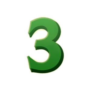 装饰数字3(60天权)